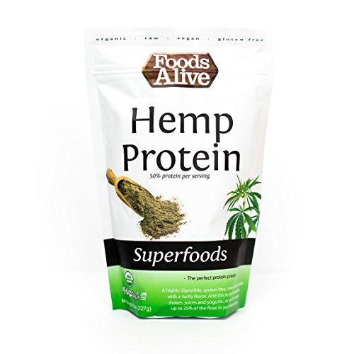Foods Alive Organic Hemp Protein Powder, 8 Ounce