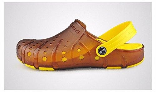 Autunno Il pattino dei nuovi uomini calza i pattini casuali Scarpa respirabile della spiaggia Grande pattino antisdrucciolevole Due pattini dei sandali di usura, arancione, UK = 9, EU = 43 1/3