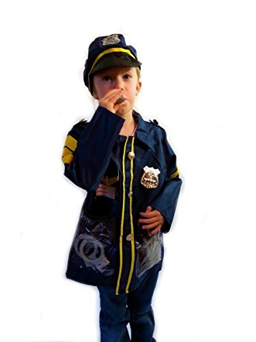 Police Officer - Dress-Up Role Play Costume Set for Boys and Girls with Toy Accessories Collection (Police Dress Up Costume)