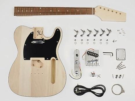 Telecaster guitarra estilo estilo Kit de montaje – Cuerpo de Tilo ...
