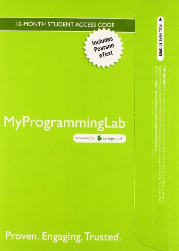 MyProgrammingLab with Pearson eText -- Access Card -- Starting Out with Java: Early Objects