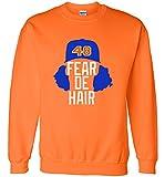 "Silo Shirts LONG SLEEVE ORANGE Jacob Degrom New York ""FEAR"" T-Shirt"