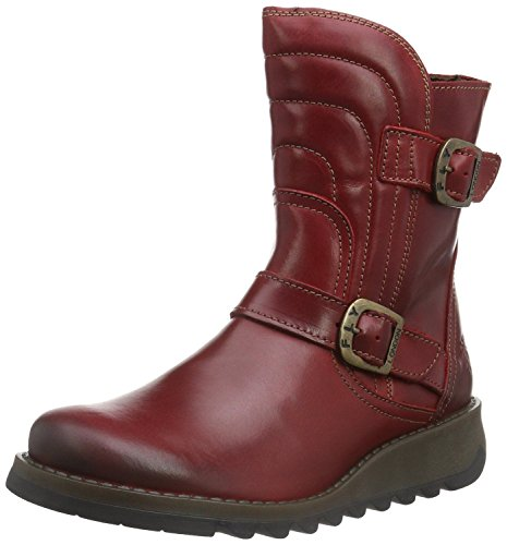 Fly London Sven731FLY Red Leather Womens Short Boots-36