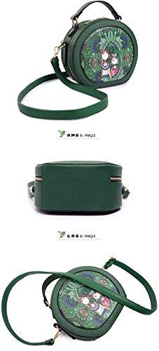 Yan Show - Cartera de mano con asa para mujer verde verde verde
