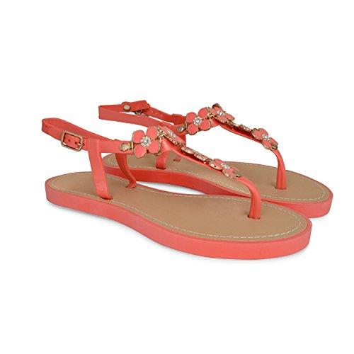 Footwear Sensation - Sandalias para mujer - 792-Coral
