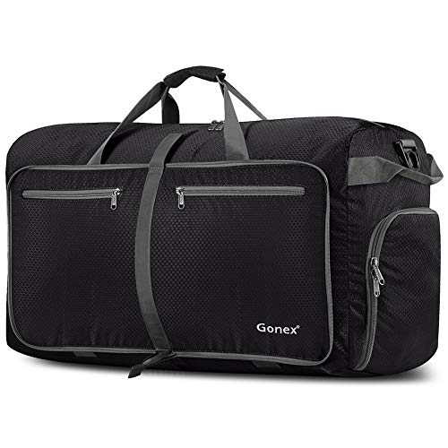 Extra Large Sport Bag - Gonex 100L Packable Travel Duffle Bag, Extra Large Luggage Duffel (Black)