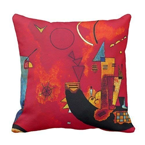 (Biekxrso Kandinsky Mit Und Gegen Couch Cushion Cover Case Home Decorative Throw Pillow Cover for Sofa Outdoor Pillowcase 45 x 45cm)