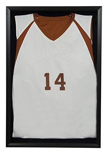 Sports Shadow (Snap Sports, 20 inches x 30 inches, Black Jersey Wall Display Case Shadow Box)