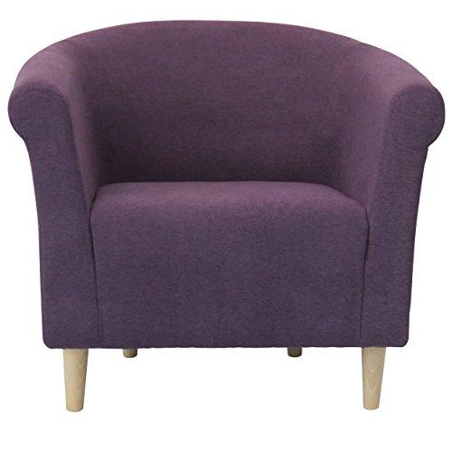 Foxhill Trading Savannah Club Chair with Birch Leg, Eggplant (Savannah Chair Club)