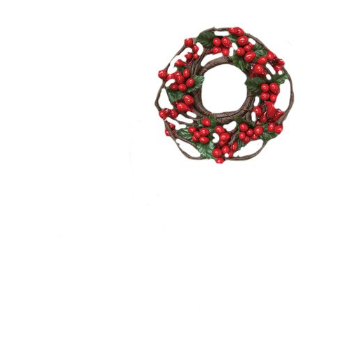 Berry Taper Candle Ring - CWI Gifts 6-Piece 1-Inch Pip Berry Ring Set, Mini, Red