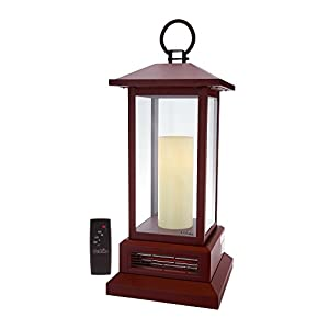 "Duraflame 28-3/4"" Electric Lantern with Infrared Heat Cinnamon"