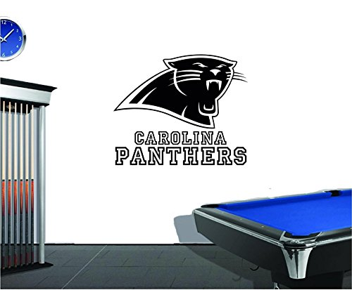 Panthers Logo Wall - NFL Carolina Panthers Vinyl Decal Wall Sticker Emblem Football Team Logo Sport Poster Home Interior Removable Decor (23
