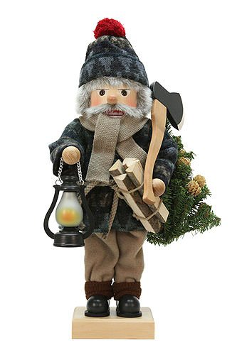 German Christmas Nutcracker Lumberjack limited edition - 49,5cm / 19 inch - Christian Ulbricht by Authentic German Erzgebirge Handcraft