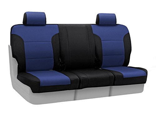 Coverking Custom Fit Seat Cover for Select Lincoln Town Car Models - Neosupreme (Navy Blue with Black Sides) ()