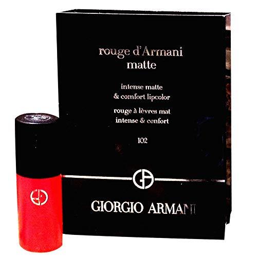 - Giorgio Armani Cosmetics Rouge D'Armani Matte Lipcolor - # 102 Androgino Mini Travel Size, 0.04 oz / 1.4g