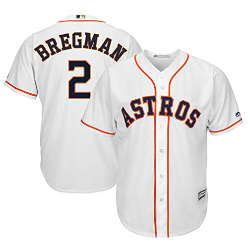 Outerstuff Youth Kids 2 Alex Bregman Houston Astros Baseball Jersey White Size 10-12 M      ()