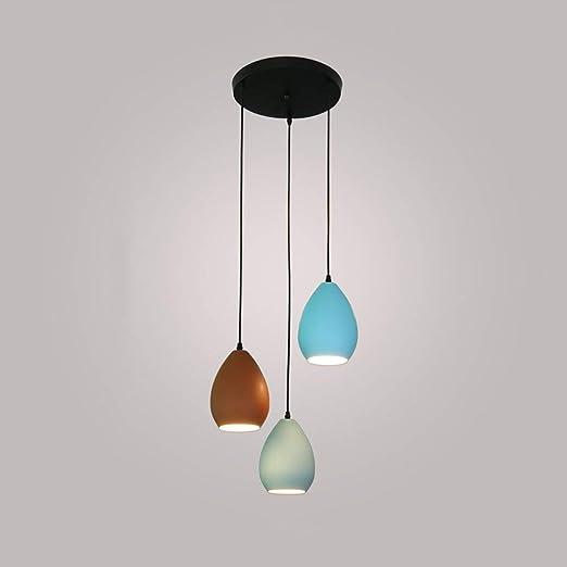 La decoración del hogar Iluminación Cabeza de hierro triples ...