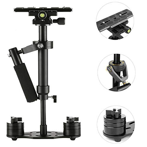 SUTEFOTO S40 Handheld Stabilizer Steadicam Pro Version for Camera Video DV DSLR Nikon Canon, Sony, Panasonic with Quick Release Plate (Black) by Sutefoto