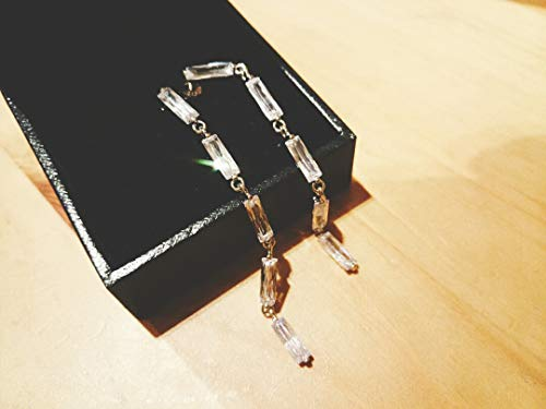 Connections Quintana s925 Silver Square Diamond Long Earrings earings Dangler Eardrop 5 ??Days delivery ()