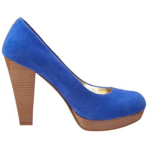 Chinese Laundry - Zapatos de ante para mujer Azul