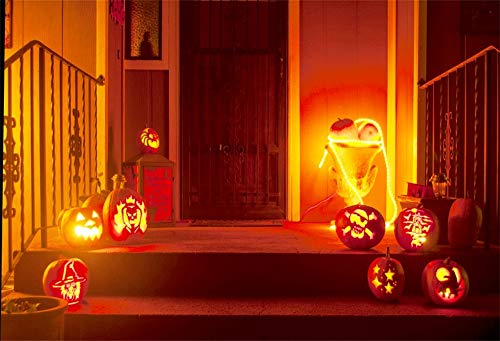 LFEEY 7x5ft Jack-O-Lantern Halloween Photography Background Home Closed
