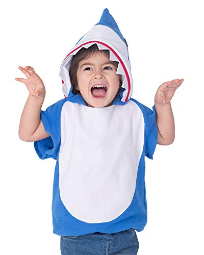 Coskidz Childrens' Shark Costume Halloween Multicolor Hoodie (L, Blue)
