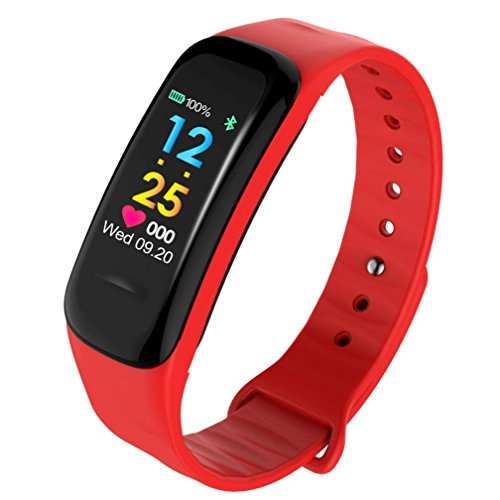 X-gadget Bluetooth Smart Watch Fitness Tracker Blood Pressure Heart Rate Monitor Wrist Watch for Android Samsung LG Smartphones (Red) by X-gadget