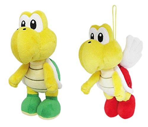 Little Buddy Set of 2 Super Mario All Star 1425 Koopa Troopa & 1590 Koopa Paratroopa Stuffed Plushes]()