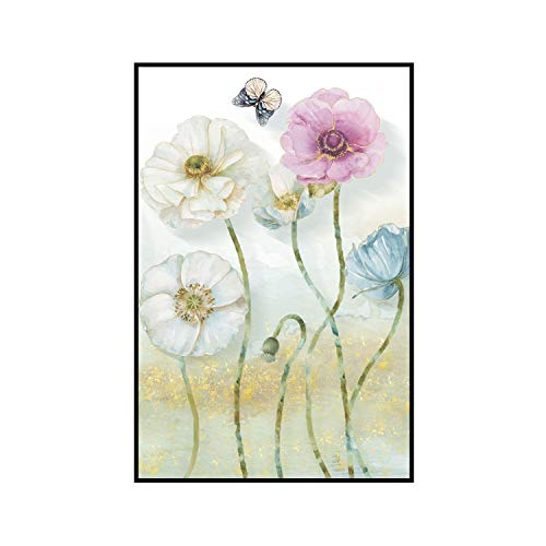 three thousand Modern Flower Plaque Poster Flower Print Print Canvas Painting Picture Home Bedroom Wall Art Decoration,60x80cm No Frame,Photo Color1