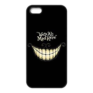 iPhone 5S Protective Case - Cheshire Cat Hardshell Carrying Case Cover for iPhone 5 / 5S by mcsharks