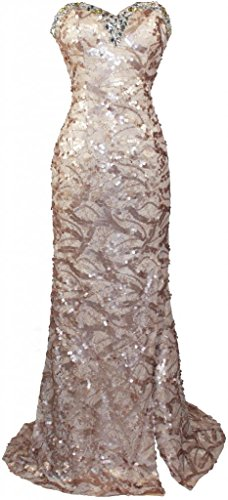 Collection Beaded Neckline Dress - Meier Women's Strapless Beaded Black Lace Prom Formal Dress HY0730 Gold 12