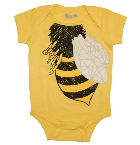 Peek A Zoo Bee Bodysuit, Yellow, 12-18 ()