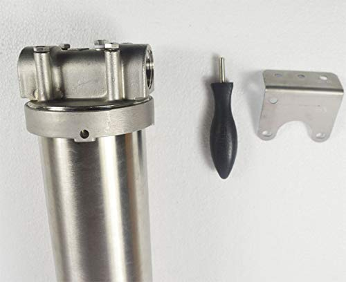 """TECHTONGDA Stainless Steel Filter for Water Filtration System 1/"""" NPT 20/"""" L"""