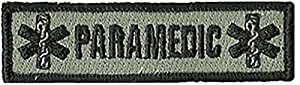 Paramedic Tactical Morale Patches - Silver/Black