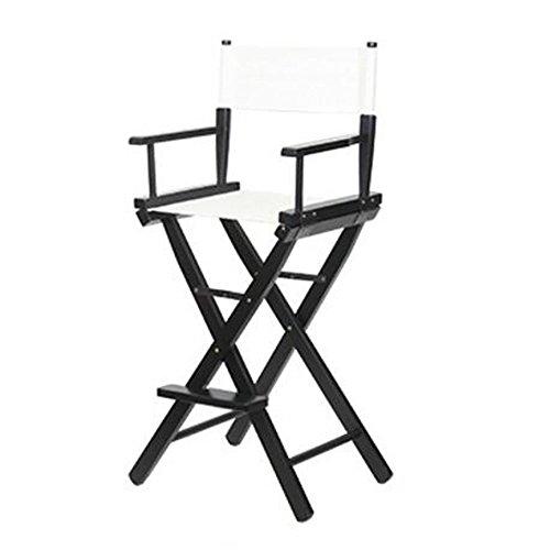 (Folding Chairs XIAOLIN High Chair Makeup Chair Director Chair Bar Chair Portable Chair Canvas Chair (Color : White))