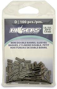Hi-Seas Mini Double Barrel Copper Crimp Sleeves, 100-Piece