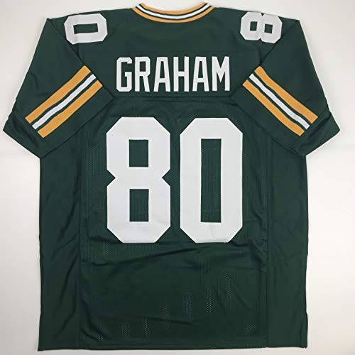(Unsigned Jimmy Graham Green Bay Green Custom Stitched Football Jersey Size Men's XL New No)