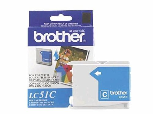 Brother Lc51c - Cyan - Original - Ink Cartridge - For Dcp 350, Fax 2580, Intellifax 1860, 1960, 2580, Mfc 230, 3360, 465, 5860, 685, 845, 885