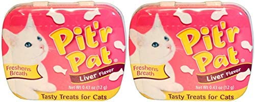Chomp Pit r Pat Liver Flavor Tasty Treats for Cats 2 Pack