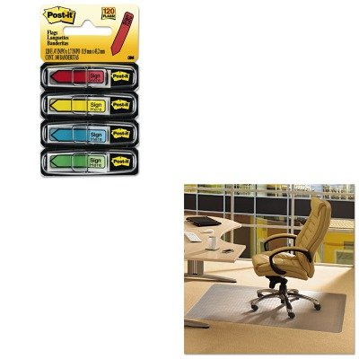 KITFLRPF119225EVMMM684SH - Value Kit - Floortex Cleartex Advantagemat Phthalate Free PVC Chair Mat for Low Pile Carpet (FLRPF119225EV) and Post-it Arrow Message 1/2amp;quot; Flags (MMM684SH) by Floortex