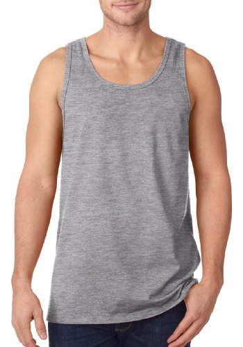 Fruit of the Loom Men's Heavy Cotton Tank Top, Athletic Heather, Large (The Athletic Of Loom Fruit Jersey)