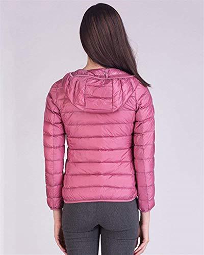 Accogliente Giacca Vintage Manica Pink Corto Cerniera Outerwear Autunno Lunga Piumino Puro Women Trapuntato Colore Tempo Libero Chiusura Moda Donna Invernali A Giovane Cappotto Eleganti F0Iq4Ow