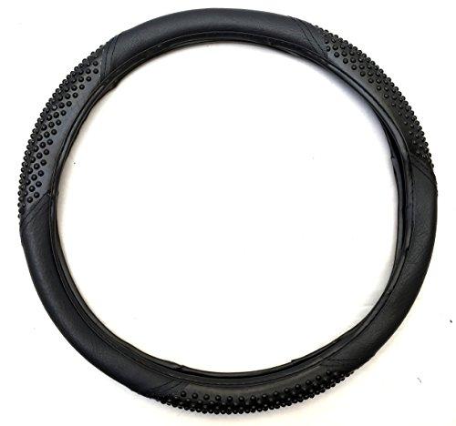 (Unique Imports Premium Massage Sport Grip Premium Slip-On Steering Wheel Cover, Universal Fit (Black))