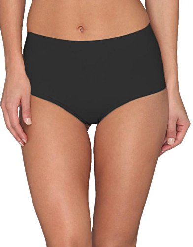 commando Women's Solid High-Rise Panty HRP01, Black LG/XL ()