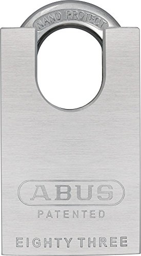 ABUS 83CS/55-300 S2 Schlage 55mm Rekeyable Padlock Solid Steel Chrome Plated Body, 1.4375-Inch Closed Shackle, (Closed Shackle Steel Padlock)