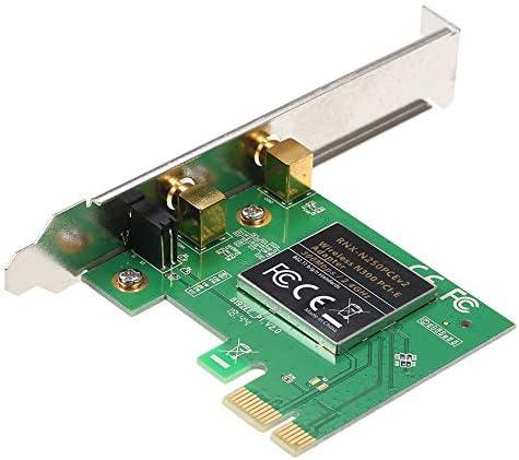 Etase 2.4G sans Fil 300 Mbps Adaptateur PCI-Express 802.11B G//N Carte WiFi avec Antenne pour PC Desktop