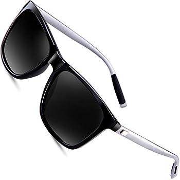 db7c28b0aef75 wearpro Wayfarer Sunglasses for Men Polarized Vintage Men`s Sun Glasses  WP1003 (black silver