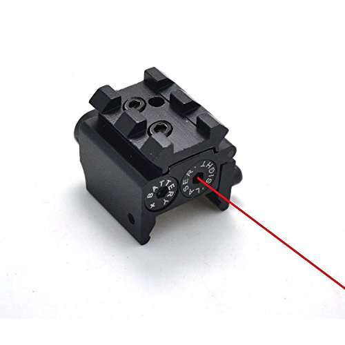 (IRON JIA'S Tactical Mini Pistol Red Dot Laser Adjustable Compact Sight Fit Rail Mount 20mm Hunting Scopes Airsoft)