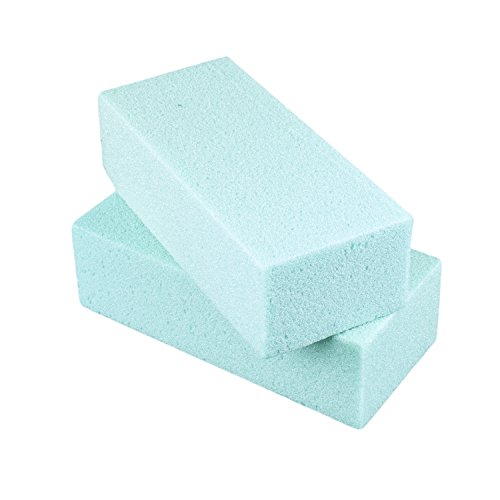 Base Outlets (Desert Foam Dry Polystyrene Blocks Bricks Green Arts & Crafts Base Lightweight Heavy Duty for Artificial Floral Dried Arrangements Decorations (2 Pack, 7.75
