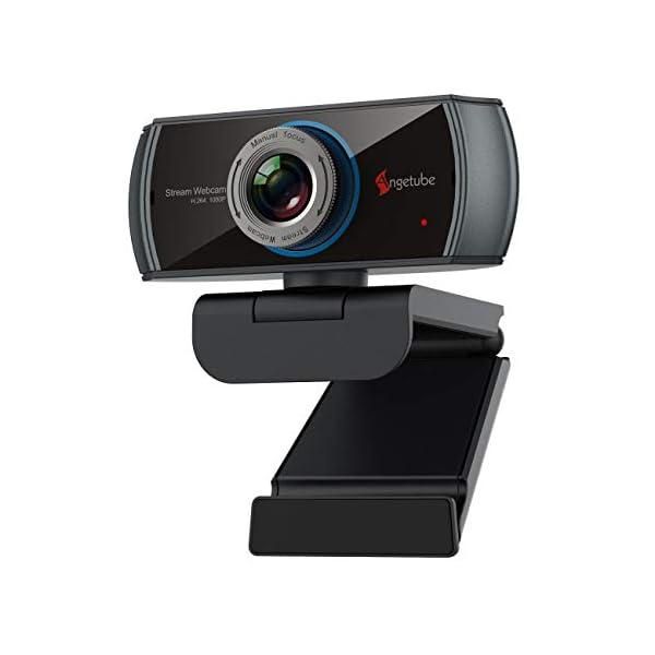 1080P Webcam for StreamingAngetube 920 PC Web Camera Calling Video Recording Cam for Windows Mac